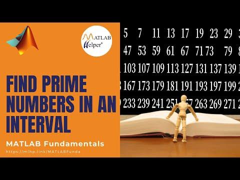 Prime Numbers between an interval | MATLAB Tutorial