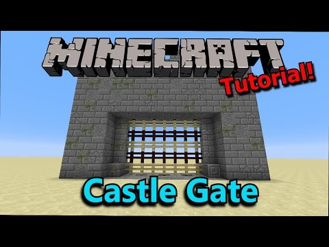 [Tutorial] Minecraft: Poor Man's Castle Gate