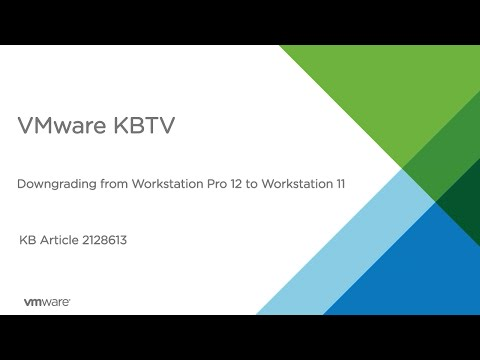 Downgrading from VMware Workstation Pro 12 to VMware Workstation 11