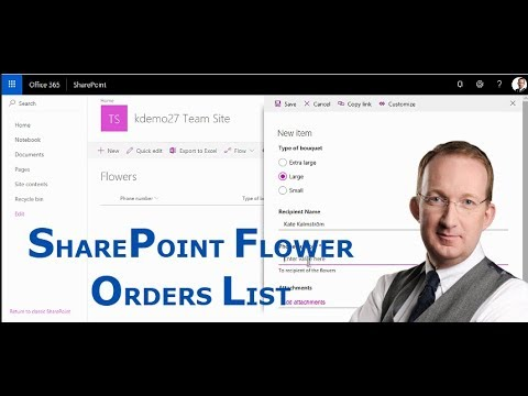 SharePoint Flower Orders List