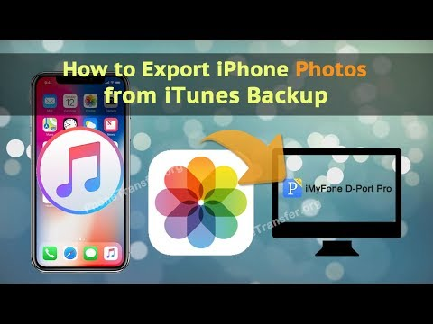 How to Export iPhone Photos from iTunes Backup