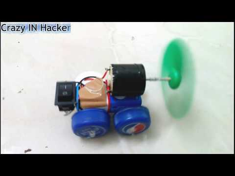 How to make crazy car at home simple dc motor projects Simple car