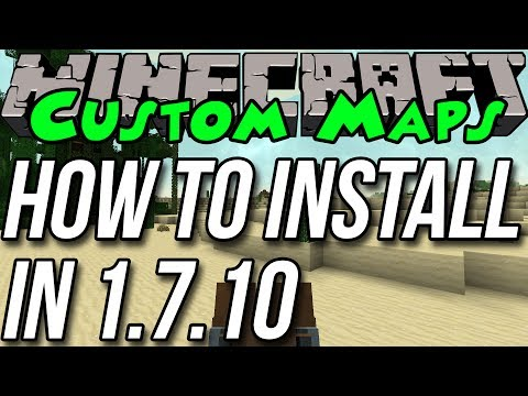 How To Find & Install Custom Maps In Minecraft 1.7.10