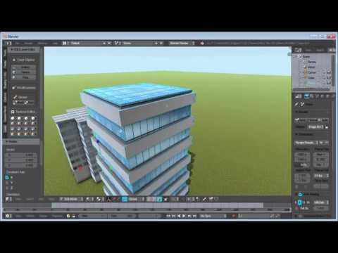 Blender Level Editor Addon: Building Creation