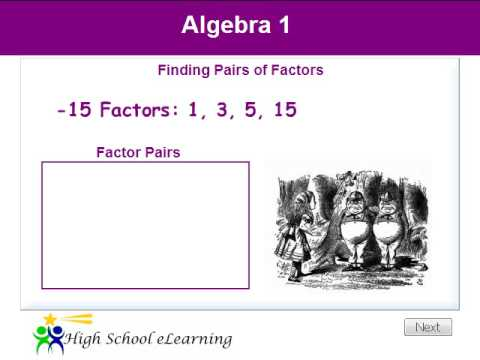 Algebra - Finding Pairs of Factors