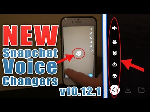 How To Use Voice Changers In Snapchat - Snapchat NEW Update - Snapchat v10.12.0