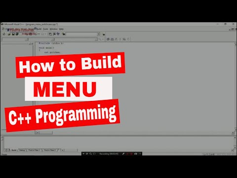 #YT020 - [INDONESIA] How to Build Menu Program Using Switch case in C++