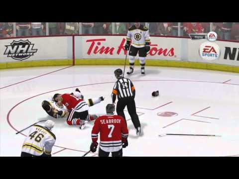 NHL 14 - Demo: Fight Compilation ft. Chara vs. Toews (x3) + A Bonus Fight!