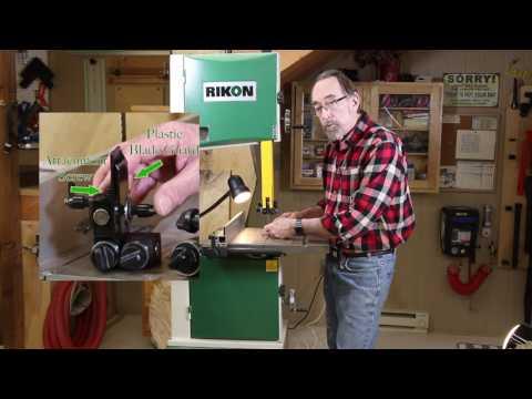 Tool-less Blade Guide Upgrade Kit for Rikon Bandsaws Video