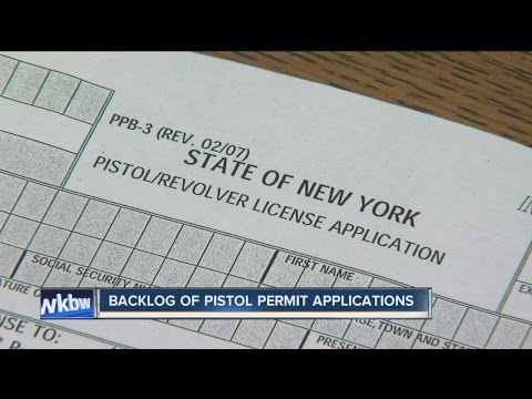 Number of pistol permit applications are overwhelming Niagara County