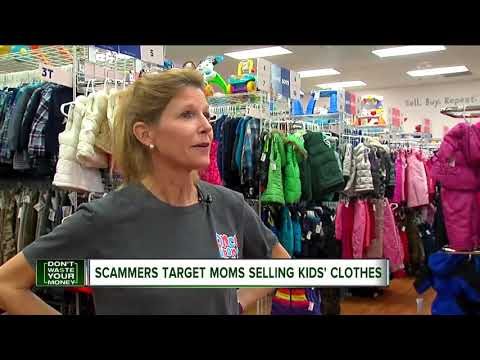 Scammers target moms selling kids' clothes