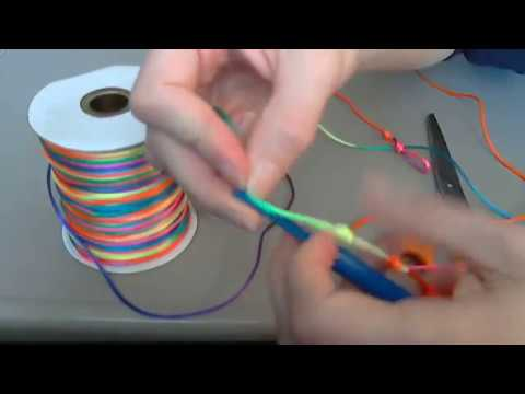 How to make a Rosary Chaplet Bracelet with Rattail Cord and a Knotting Tool