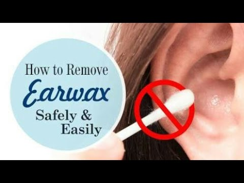 Remove Ear wax with salt water