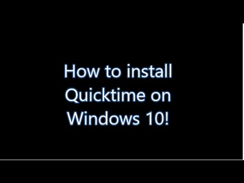 How to install Quicktime on Windows 10/8.1/8