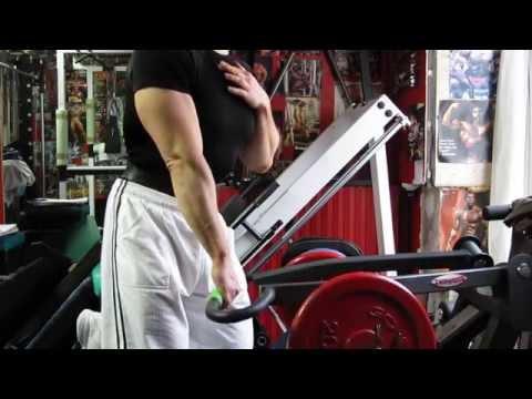 Michael Gundill performs upper chest shrugs (view 2)