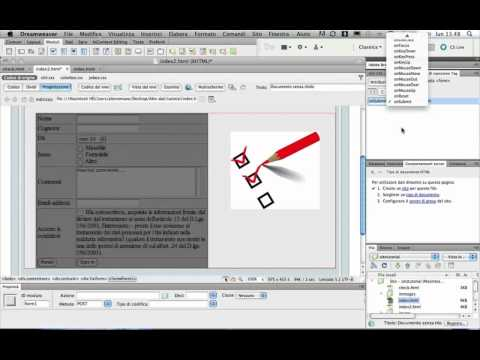 TUTORIAL Dreamweaver CS5 - Validation form- Convalida modulo