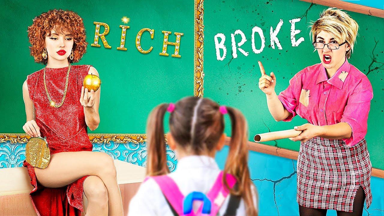 Rich Teacher vs Broke Teacher / 25 Funny Situations in School