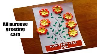new year greeting card handmad