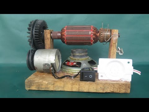 Free energy light with a Power electric motor with magnets - Easy work with free energy generator