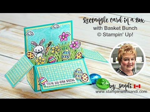 Rectangle Card in a Box with Basket Bunch from Stampin Up