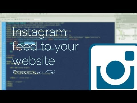 Instagram feed into your website - Dreamweaver