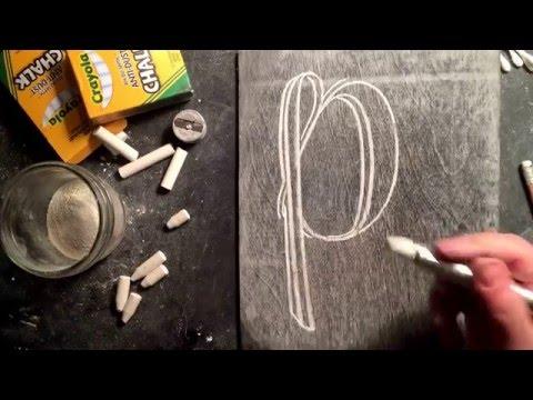SheShe Design Chalk Script Lettering UPPERCASE P