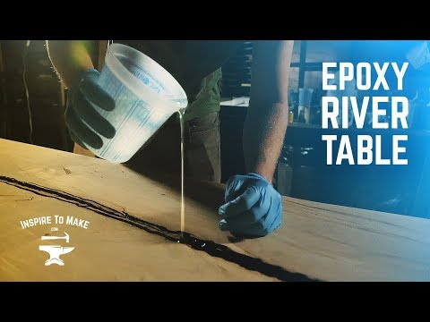 Making an Epoxy River Table With a Rocky Mountain Metal Base