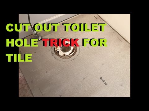 How To Cut Around A Toilet Hole With Backer Board Install Tile