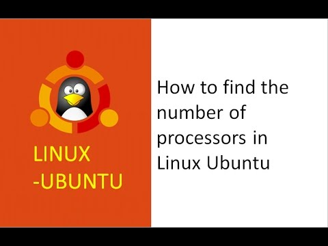 how to find the number of processors in linux,  command to find number of processors in linux, cores