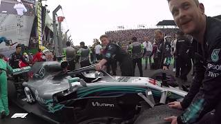EXCLUSIVE: Inside Mercedes' Celebrations After Lewis Hamilton's Title Win