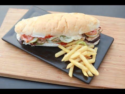 Chicken Footlong Sandwich | Chef's Day Out | Chef Afraz | Sanjeev Kapoor Khazana