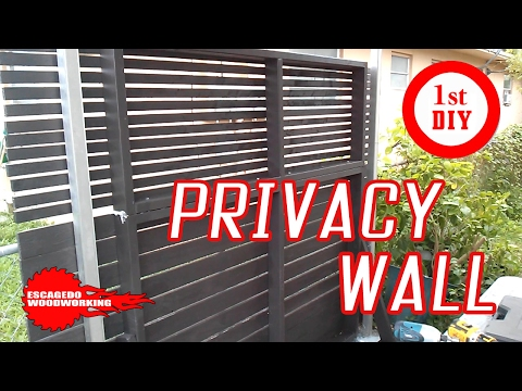 He wanted Privacy at home so he built a wall
