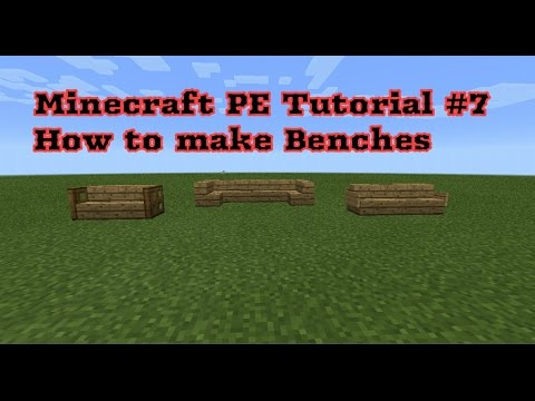 Minecraft PE Tutorial #7| How to make Benches