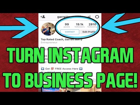 Turn Instagram Into Business Page (FASTEST TUTORIAL!)