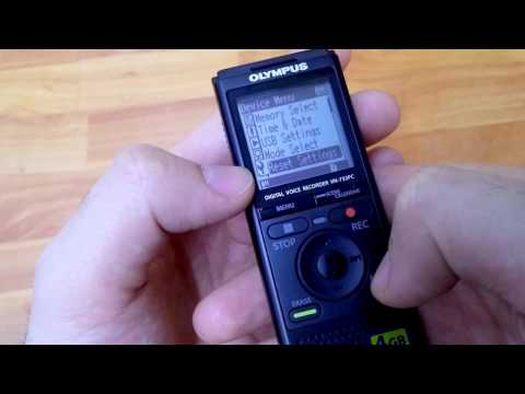 How to Reset All settings to Default (Olympus VN-733PC Sound Recorder)