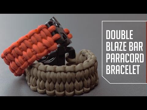 Double Blaze Bar Paracord Bracelet Tutorial