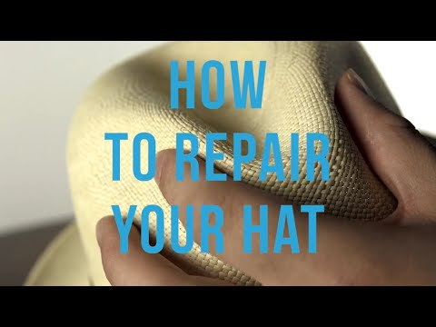 How to repair the crown of a straw hat