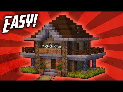 Minecraft: How To Build A Survival Starter House Tutorial (#6)