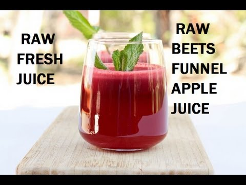Juicing: Raw Beet-Funnel-Apple Juice (Omega Vert 350 HD Juicer)