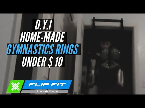 Home made gymnastics rings for under $10!!