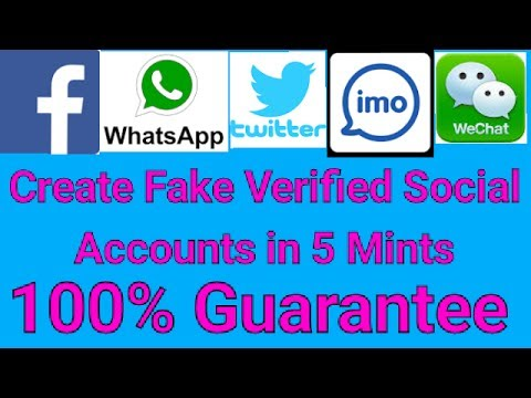 How To Create Fake Social Accounts Without Phone number and email id