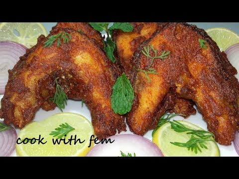 Fish Fry Recipe | Crispy,Tasty and Simple Rohu Fish Fry By Cook With Fem