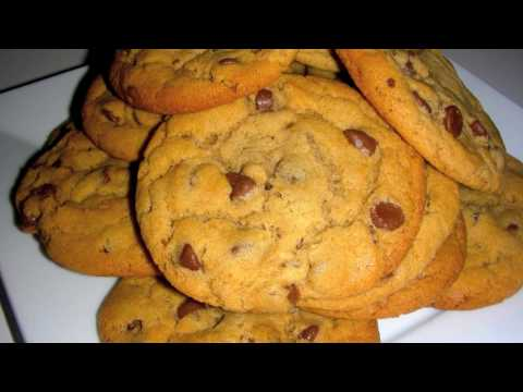Peanut Butter Chocolate Chip Cookies Recipe - Crunchy Chewy Golden Brown