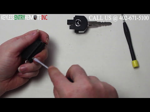 How To Replace Mazda CX 7 Key Fob Battery 2007 2008 2009 2010