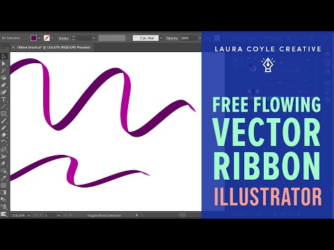 Illustrator Tutorial: Draw a free flowing vector ribbon