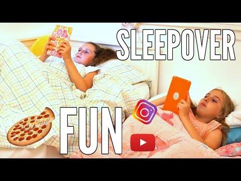 SUMMER SLEEPOVER ROUTINE! | Summer Sleepover Ideas! Millie and Chloe