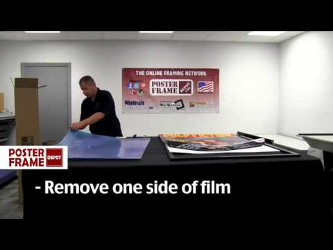 How to assemble your large and oversized poster frames