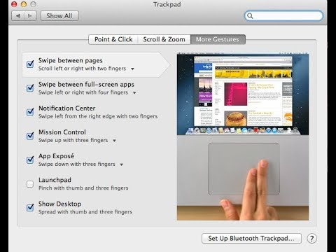How to swipe between finder pages like in safari MacBook