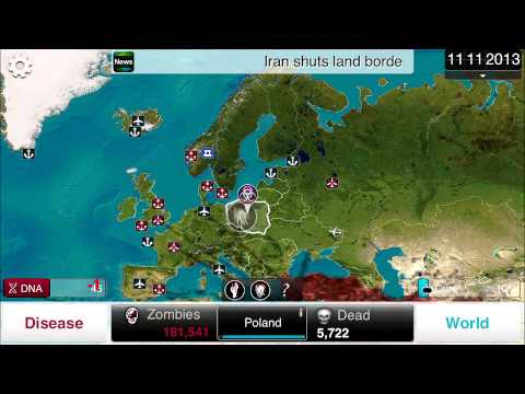 (HD) Plague Inc. - How to get all NECROA (ZOMBIE) Genetic Code modifications