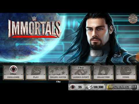 Wwe immortals free account with lots of credits and stamina bars